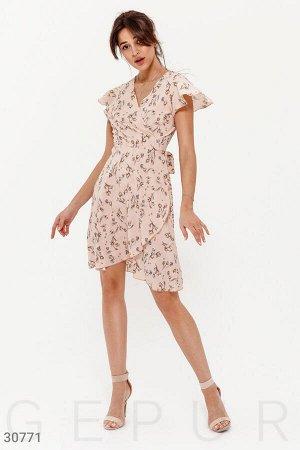 Платье-мини в цветочный принт 42-44 р