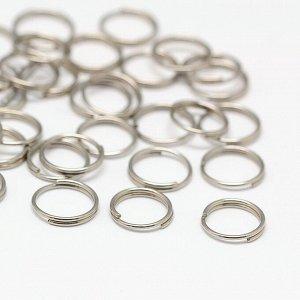 Кольца двойной крутки нержавеющая сталь 8х0,6 мм. Цена за 10 шт.