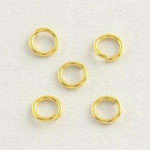 Кольца золотистые. 5 x 0,8 мм, нержавеющая сталь. Цена за 10 шт