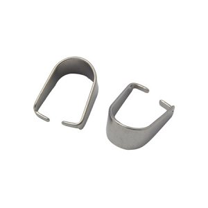 Держатель, 10.5*8мм, зажимной, нержавеющая сталь, 10 шт.