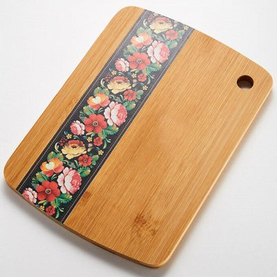 ✔ Дельта- Дискаунтер ✔ Товары для дома ✔- 44 — Доски разделочные деревянные с рисунком — Ножи и разделочные доски