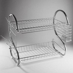 Сушилка для посуды 43х24х38,5см двухуровневая WEBBER BE-7215