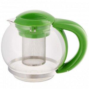Чайник заварочный 1500мл ВЕ-5573/3 зеленый с металлическим фильтром