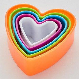 """Набор форм для печенья 5 размеров ТД9-042 """"Сердечки"""""""