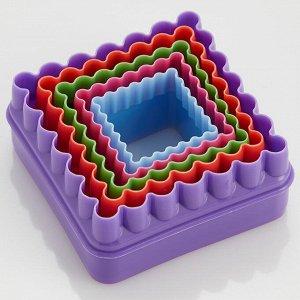 """Набор двусторонних пластиковых форм для печенья 5 размеров """"Квадраты"""" Webber BE-4411/5"""
