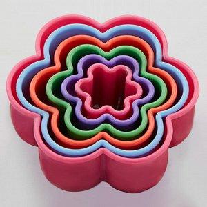 """Набор пластиковых форм для печенья 6 размеров """"Цветочек"""" Webber BE-4414/6"""