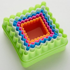 """Набор двусторонних пластиковых форм для печенья """"Квадраты"""" 5 размеров BE-4300P/5"""