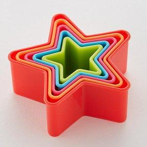 """Набор пластиковых форм для печенья 5 размеров """"Звездочки"""" АК-622Р/5"""