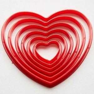 """Набор пластиковых форм для печенья """"Сердца"""" 6 размеров BE-4310P/6"""