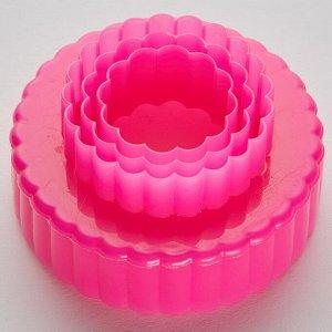 """Набор двусторонних пластиковых форм для печенья """"Кружочки"""" 3 размера BE-4308P/3"""