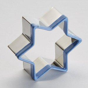 """Форма для вырезания печенья 5х5х2см """"Звездочка"""" BE-4351 светло-синяя"""