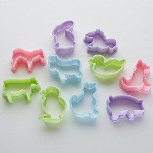 """Набор пластиковых форм для печенья """"Зоопарк"""" 10 штук BE-4313P/10"""