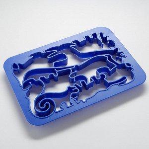 Форма для печенья ЖИВОТНЫЕ (10 фигурок) BE-4421 синяя