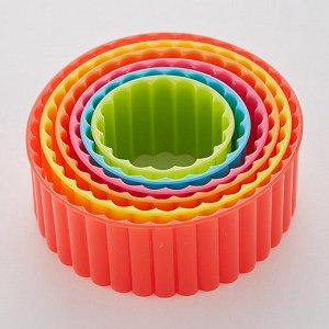 """Набор пластиковых форм для печенья 6 размеров """"Круг"""" АК-621Р/6"""