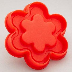 """Форма для печенья 9,5х9,5х3,5см с поршнем """"Цветок"""" Webber BE-4438"""