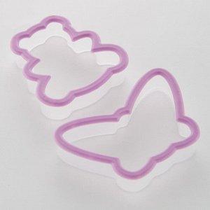 Набор пластиковых форм для печенья 2 предмета АК-633Р/2