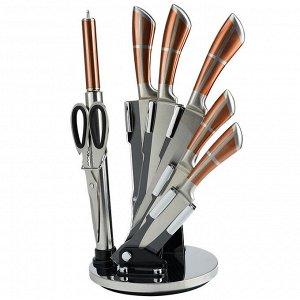 Набор ножей на акриловой подставке 8 предметов Alpenkok AK-2090 + ПОДАРОК