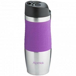 Термокружка вакуумная 400мл Alpenkok AK-04004A фиолетовая