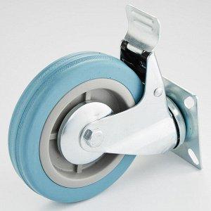 Опора аппаратная поворотная с тормозом 125х27х155мм 75 кг ТД11-02Т/125-75 серая резина