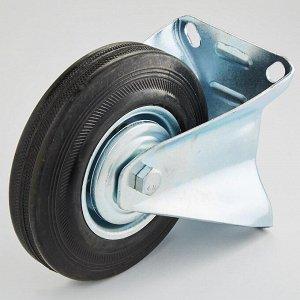 Колесная опора промышленная фиксированная 125х32х151,5мм 90 кг ТД11-05/125-90 черная литая резина