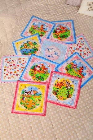 Платки носовые детские (набор 10 шт)