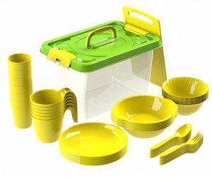 Набор посуды для пикника №7 «Все за стол» (6 персон, 44 предмета)