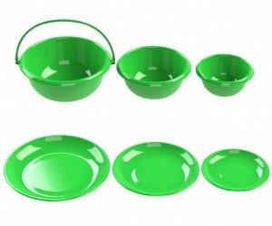 Набор мисок с тарелками-крышками №1 (6 предметов)
