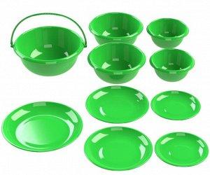 Набор мисок с тарелками-крышками №2 (10 предметов)