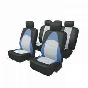 Чехлы Carfort Active с дышащей 3D сеткой, комплект, черно-синий, 13 предм. (1/5)