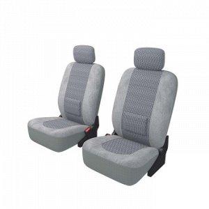Чехлы Carfort Modern с поясничной подушкой, комплект для переднего ряда, серый, 8 предм.(1/10)