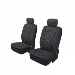 Чехлы Carfort Modern с поясничной подушкой, комплект для переднего ряда, черный, 8 предм.(1/10)