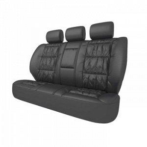 Чехлы CARFORT Silver, кожа, комплект для заднего дивана, черные, 5 предм.(1/5)
