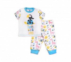 Пижама детская Crockid К 1113 сахар + св. аква звери на сахаре