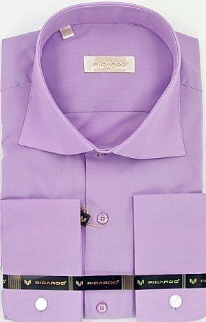Рубашка рост 170-182 приталенная длинный рукав