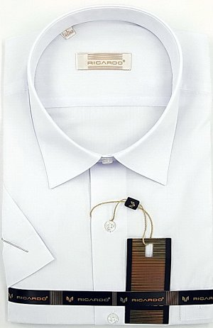 Рубашка муж. белая с коротким рукавом в Хабаровске