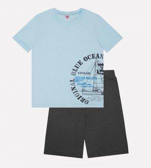 Комплект для мальчика Crockid К 2595 небесный + темно серый