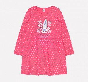 Платье для девочки Crockid К 5518 горох на клюкве