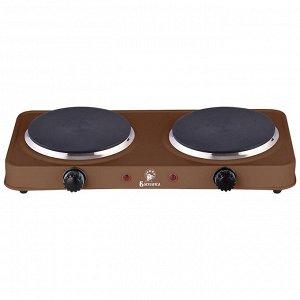 Плита электрическая 2000 Вт настольная 2-конфорочная ВАСИЛИСА ВА-903 коричневая