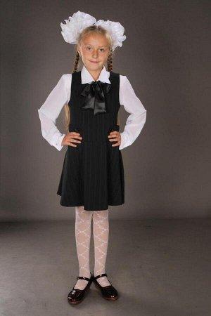 Сарафан С-4 Размер:  30 32 34 36 38 Длина:  60см Красивыйстильный сарафанчик для девочки черного цвета.Сарафан с заниженой талией,юбка полусолнцем.По бокам имеются ремешки,котрые могут затягиватьс