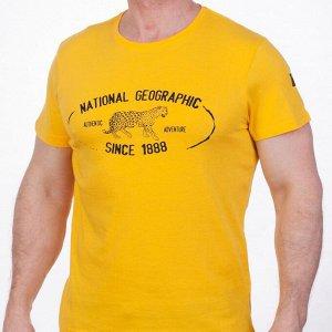 Желтая футболка  мужская (National Geographic Society, США) №Тр125 ОСТАТКИ СЛАДКИ!!!!