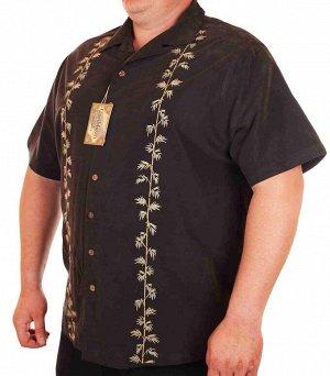 Фирменная мужская сорочка Caribbean Joe с рисунком. Футболки – это хорошо, но без качественной рубашки в гардеробе не обойтись! В наличии в Москве большие модели – до 86 размера! №40151 ОСТАТКИ СЛАДКИ