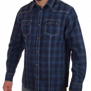 Рубашка Мужская синяя рубашка от модного европейского бренда John Baner. Девушки ПИЩАТ от такого сочетания фасона и цвета №133 ОСТАТКИ СЛАДКИ!!!!