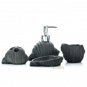 Набор аксессуаров для ванной комнаты из искусственного камня (акрил), форма раковина