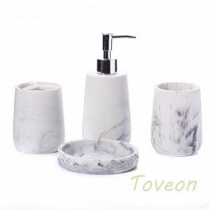 Набор аксессуаров для ванной комнаты из искусственного камня (акрил), фактура