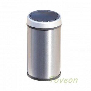 Бак для мусора сенсорный 9 л нерж_сталь/черный