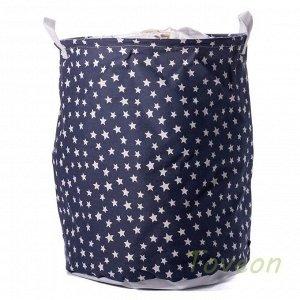 Корзина для белья малая, текстильная с завязками к-0114