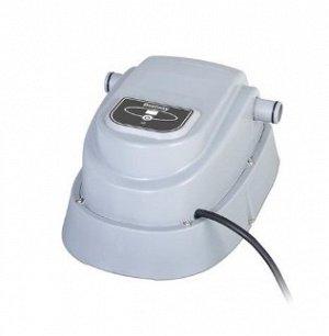 58259 bw Проточный водонагреватель 2,8 kw для бассейнов до 17 м3 Изделие подходит как для каркасных, так и для надувных бассейнов диаметром до 457 см (объем от 1520 до 18930 литров)   Нагреватель уста