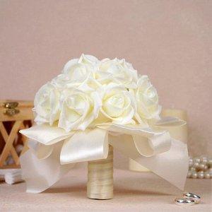 """Букет-дублер для невесты """"Совершенство"""", латексные цветы, айвори"""