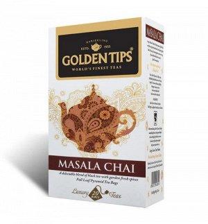 Masala Chai Full Leaf Pyramid, 20 Tea Bags/ Масала Чай, цельный лист - 20шт. Чайные пакетики- Пирамидки