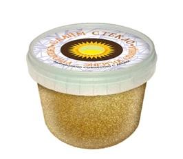 """Лепа Слайм """"СТЕКЛО"""" с золотыми блестками 100 гр в банке 00-00001085"""